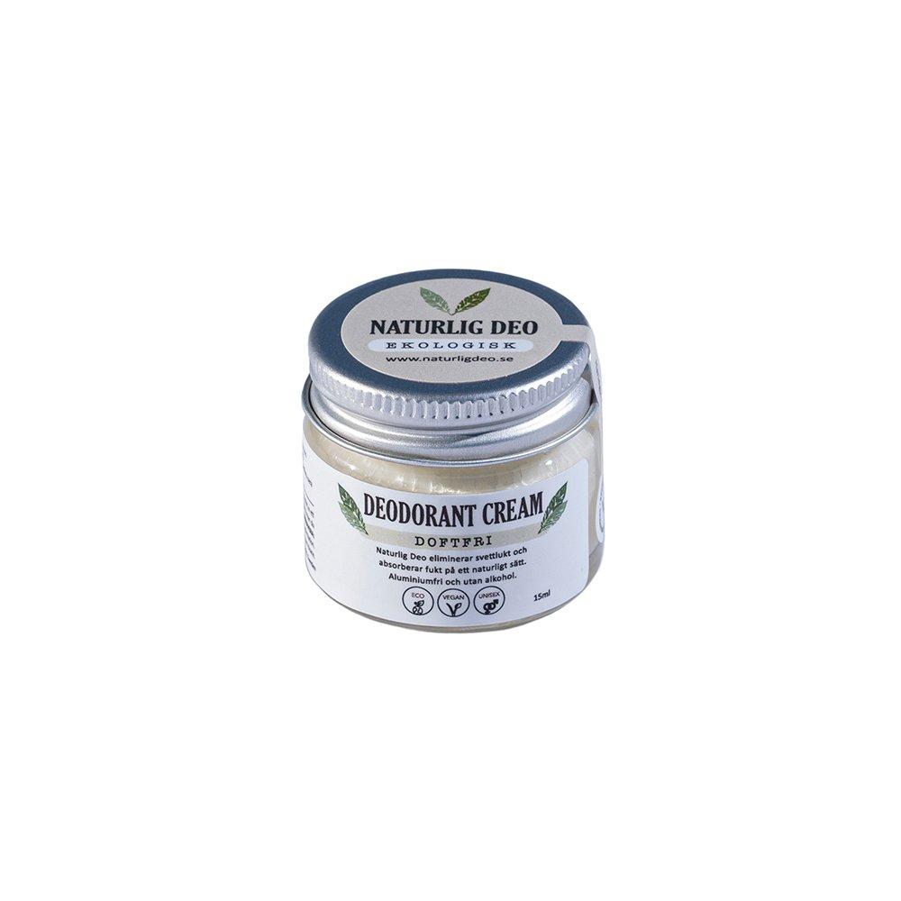 Naturlig Deo ekologisk deodorant cream Doftfri 15ml