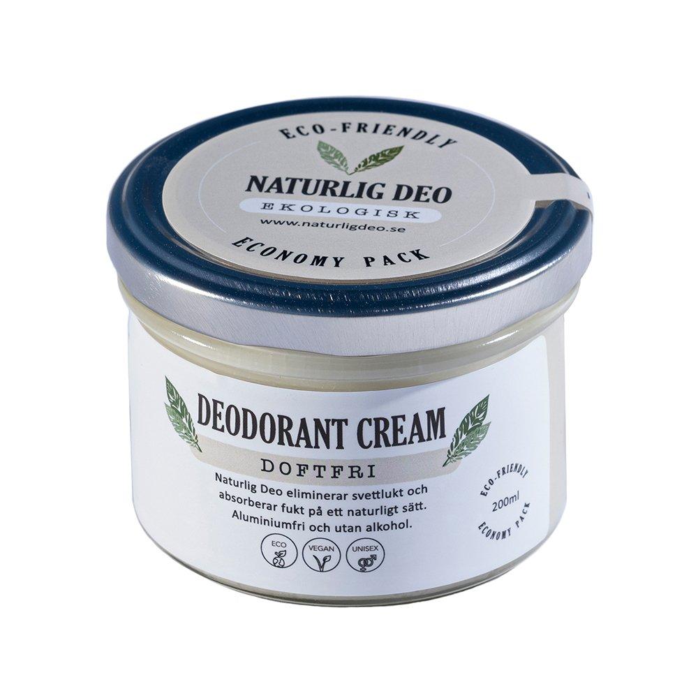 Naturlig Deo ekologisk deodorant cream Doftfri 200ml