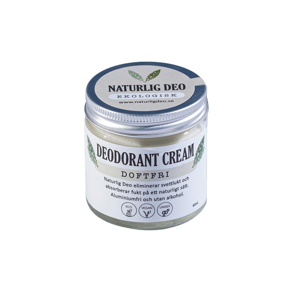 Naturlig Deo ekologisk deodorant cream Doftfri 60ml