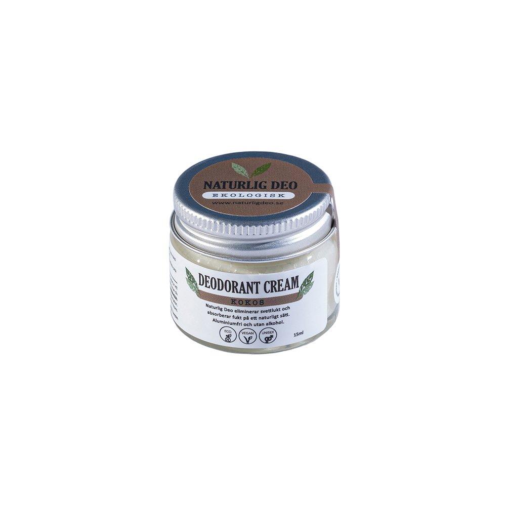 Naturlig Deo ekologisk deodorant cream Kokos 15ml