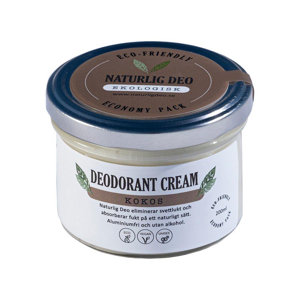 Naturlig Deo ekologisk deodorant cream Kokos 200ml