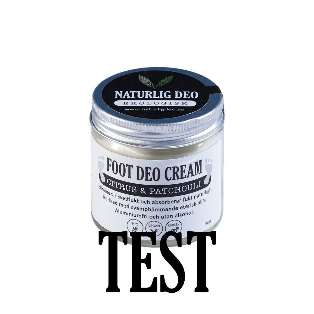 Naturlig Deo ekologisk foot deodorant cream Citrus patchouli 60ml TEST