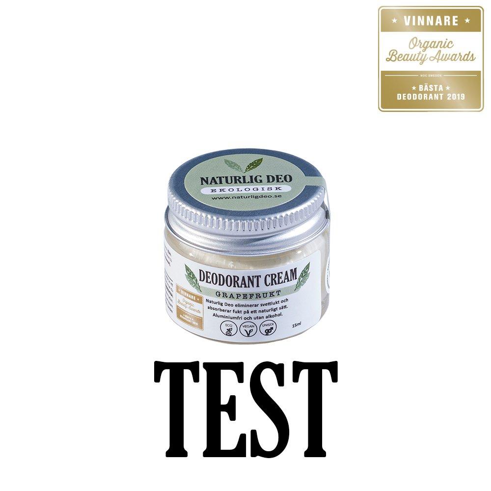 Naturlig Deo Grapefrukt Bästa Deodorant 15ml TEST