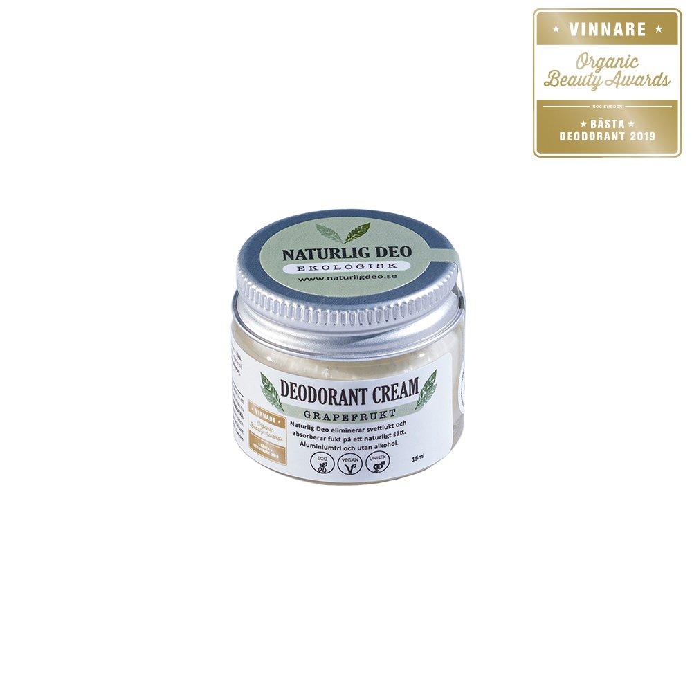 Naturlig Deo Grapefrukt Bästa Deodorant 15ml
